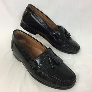 Bass Grammer Loafers 13 EE Black Leather